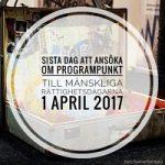 Dags att skicka in programförslag till Mänskliga Rättighetsdagarna